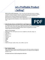 PDF Submission- How to Find Profitabel Product