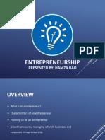 Presentation on Entrepreneurship - Complete