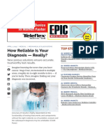 How Reliable is Your Diagnosis — Really_ - Medical Design Briefs