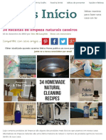 34 Receitas de Limpeza Naturais Caseiros