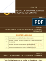 The Freedom of Enterprise Business Activities and Accounting