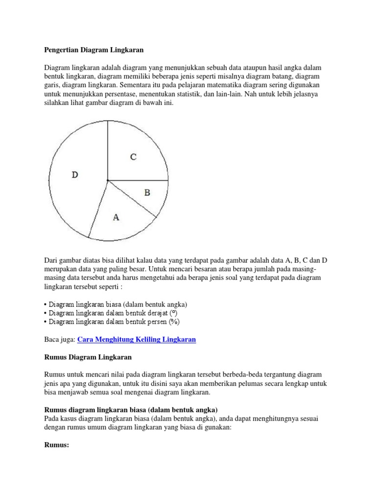 29+ Contoh Soal Diagram Lingkaran Dalam Bentuk Persen Dan ...