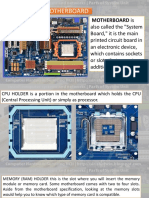 5 Parts of Motherboard
