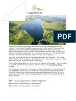 Water Management Minimisation Good Practice Guide 2018