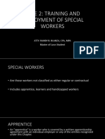 Labor - Special Workers