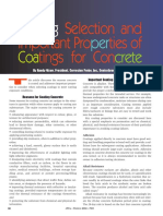 Coating Selection and Important Properties of Coatings for Concrete
