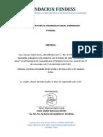 Certificado Fundess