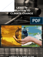 Laws in Relation to Climate Change