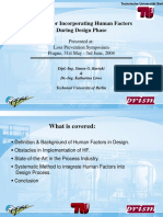 Human Factors in Plant Design