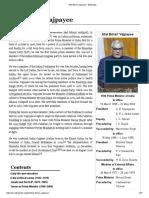 Atal Bihari Vajpayee - Info
