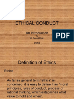 1 Ethical Conduct 1