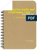 Agriculture Activity Notebook