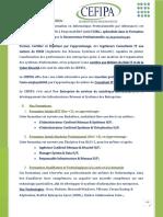 Présentation Du CEFIPA