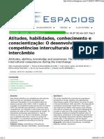 Aguiar Et Al 2017 Espacios Competencias Interculturais Intercambio