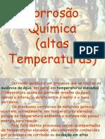 corrosão quimica a alta temperaturas