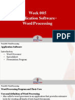 Application Software Word Processing