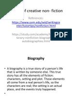 Forms of Creative Non- Fiction p1