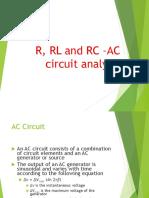 R, RL-RC-Ckt