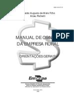 Manual Contas Empresa Rural EMBRAPA
