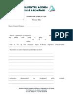 Formular Petitie Pentru Persoane Fizice Si Persoane Juridice