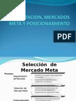 Clase 5 - Segmentacion, Mercados Meta y Posicionamiento
