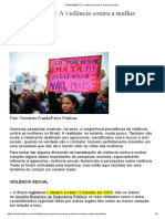 EM NÚMEROS_ a Violência Contra a Mulher Brasileira