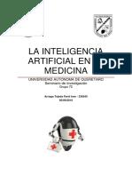 La Inteligencia Artificial en La Medicina