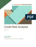 Credit Risk Analysis -Janani Prakash