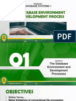 Module 1 - The Database Environment