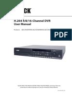Black 4, 8, or 16-channel DVR User Manual