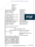 City of Oakland vs. Oakland Raiders and NFL Amended Complaint As of 9-9-2019