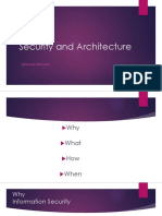 Security and Architecture