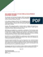 2019pressrelease Sec Warns the Public of Ada Farm and Broilerpreneur Investment Schemes.v1.Docx (1)