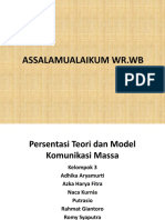 Presentasi Teori Dan Model Komunikasi Massa