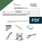 Evaluación Apreciación Musical1º a-b Junio