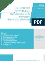 DNS Secundario Ubuntu Server