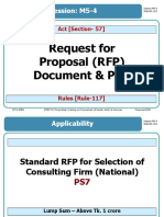 M5-4 Request for Proposal Document & PDS