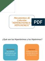 hiponimosehiperonimos PPT