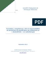 201309 Sfpm Rapport Techniciens Planification Traitement