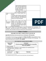 Applicability of Amendments Etc for Nov 2019 Exam Taxation CA Inter