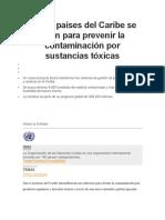 Nueve países del Caribe se unen para prevenir la contaminación por sustancias tóxicas.docx