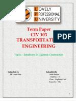 Transpotation -Emulsions for Highway Construction