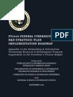 FY2020 Federal Cybersecurity R&D Strategic Plan Implementation Roadmap
