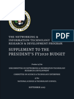 NITRD Supplement to the President's FY2020 Budget