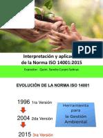 Interpretación de La Norma ISO 14001-2015 SC (PRESENTACION)