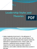 Leadership Styles and Theories 05-06-19 2020H
