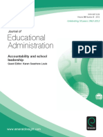 (Journal of Educational Administration) Karen Seashore Louis - Accountability and School Leadership-Emerald Group Publishing Limited (2012)