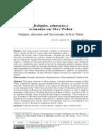 Religião, educação e economia em Max Weber