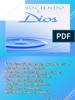 CONOCIENDO LAS MANIFESTACIONES DE DIOS