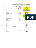 Restriction Orifice Diamater Calculation